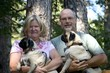 Couple with Pugs